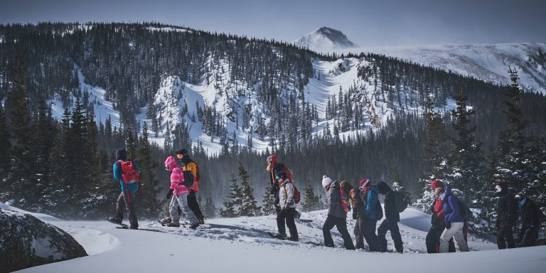 snowshoe group at Brainard Lake