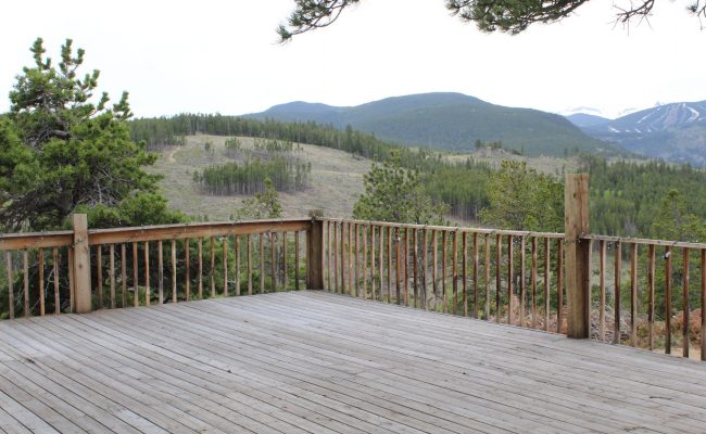 Wedding Venue deck and view of Eldora